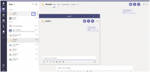 Pop-out Chat in Microsoft Teams